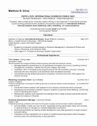 Resume Without Work Experience Unique 48 Elegant Stock Of Sample Resume For Fresh Graduate Without Work