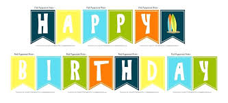 Happy Birthday Signs To Print Printable Happy Birthday Banner Download Them Or Print