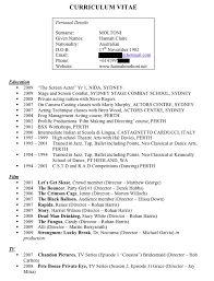 Movie Theatre Resume