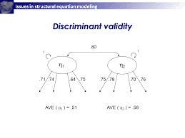 7 issues in structural equation modeling 2 2 1 1 80 1 1 71 74 64 75 78 70 76 ave 1 51ave 2 56 discriminant validity