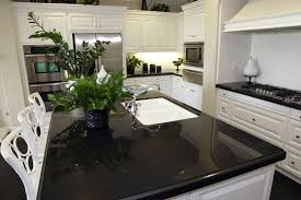 best black quartz countertops
