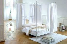 Full Size Canopy Bed White With Lights Cover Twin Trundle Home ...