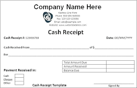 Receipt Template Doc Cash Received Receipt Template Word Payment Format In Free