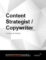 content strategist copywriter job description cover copywriter job description