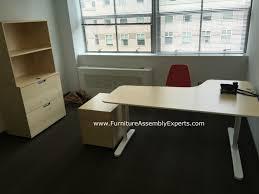 assembled office desks. Ikea Bekant Office Desk, Galant File Cabinet And Storage Assembled For The Women Refugee Commission Desks F