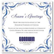 Business Christmas Card Template Printable Blue Nouveau Corporate Card Template