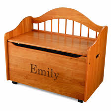 personalized wood toy box for children