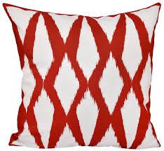 E By Design Pillows Amazon Com E By Design O5pg N32 Red 18 Geometric Decorative