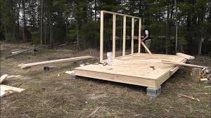 How To Make A Tent Wall Tent Platform Build Youtube