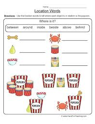 Prepositions Of Place Worksheet Worksheets Elementary 1 Free ...