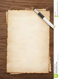 Free Ink Pens Ink Pen On Parchment Background Royalty Free Stock Photography