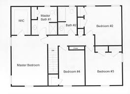 4 bedroom floor plan. Simple Floor 4 Bedroom 2 Full Baths And Large Master Bedroom Efficient Use Of Custom  Modular SECOND FLOOR Throughout Bedroom Floor Plan M