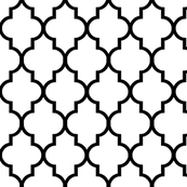 Quatrefoil Pattern Impressive Classic White And Black Quatrefoil Wallpaper Willowlanetextiles