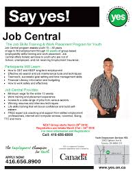 news events youth employment services yes page 5 our next job central group starts 29th call 416 656 8900 to register