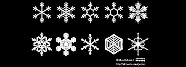 雪の結晶素材 シルエットデザイン