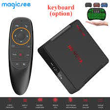Magicsee N5 NOVA Android 9.0 TV Box Rockchip3318 4GB RAM+64GB ROM  2.4GHz+5GHz WiFi Bluetooth 4.0 Support 4K 2.4G Voice Remote Set-top Boxes