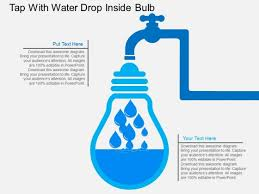 Water Drops Template Tap With Water Drop Inside Bulb Powerpoint Template Powerpoint