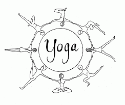 Yoga coloring pages for kid sport introduction dear joya