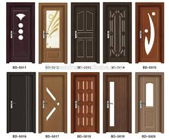 Solid Wooden Door Personized With Light Frame Latest Design Wood