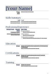 Free Blank Functional Resume Template Sample Resume Resume