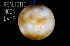 picture of realistic moon lamp
