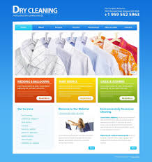 dry cleaners website template