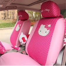 universal hello kitty car seat covers red and pink bowknot car seat protector interior accessories red leather car seats leather cover seats for cars from
