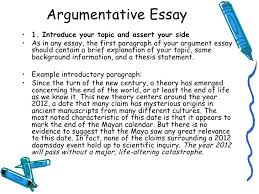 argumentative paper introduction purdue owl argument papers