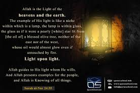 The Light And The Glass Allah Is The Light Of The Heavens And The Earth The