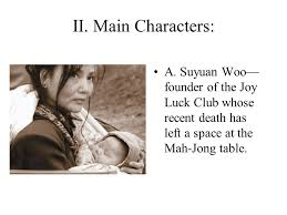 the joy luck club by amy tan english background in four main characters a