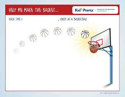 Weekly Toddler Progress Chart Color In A Basketball For