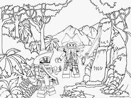 Small Picture Lego Pirates Jungle Coloring Pages Printable