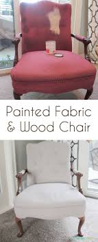 DIY Painted Fabric and Wood Chair - I can't believe this transformation!