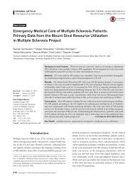 Pdf Emergency Medical Care Of Multiple Sclerosis Patients