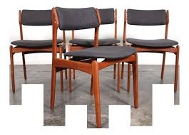 eric buch o d mobler mid century modern teak dining chairs set of 4
