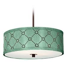 interior light blue fabric drum chandelier with white shade fileove regarding widely used fabric