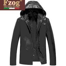 fzog fee zuo gretl leather leather sheep skin leather men s leather jackets men s jackets hooded