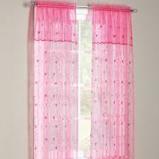 anna s linens flora sheer panel with attached valance