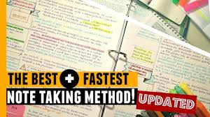 The Best Fastest Note Taking Method Updated
