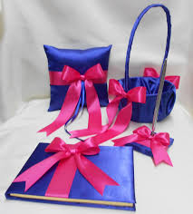 wedding accessories royal blue fuchsia hot pink flower girl Wedding Colors Royal Blue And Pink like this item? royal blue and pink wedding colors