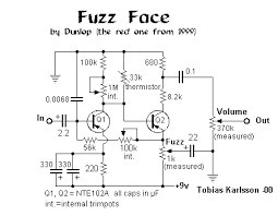 selected schematics fuzz face 99