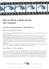 How To Write A Movie Review Pdf How To Write A Movie Review Our Template Five Parts