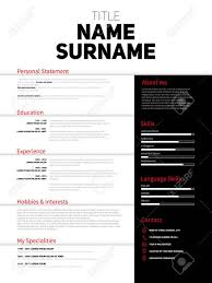 Minimalist Resume Resume Minimalist CV Resume Template With Simple Design Company 35