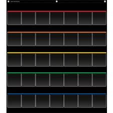 Black Classroom Calendar Pocket Chart Black Storage Pocket Chart