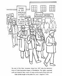 Small Picture BlueBonkers Labor Day Coloring Page Sheets Organized Labor Strike