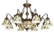 center bowl 32 35 5 inch wide green leaf motif tiffany chandelier ceiling light