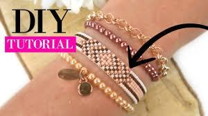 How to make a woven beadloom <b>bracelet</b> with <b>Miyuki</b> Beads ...