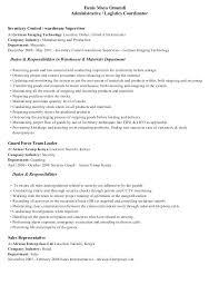 Logistics Coordinator Resume Logistics Resume Sample Logistics