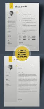 Resume Template Design New Simple Clean CV Resume Templates Design Graphic Design 63