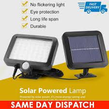 Solar Security Light Item 69643 56 Led Garden Outdoor Solar Powerd Motion Sensor Light Pir Security Flood Light